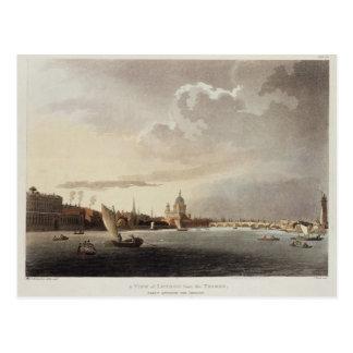 Eine Ansicht von London von der Themse, 1809 Postkarte