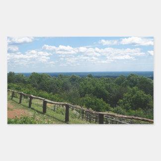 Eine Ansicht von Monticello Rechteckiger Aufkleber