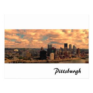 Eine Ansicht von Mt Washington von Pittsburgh Postkarte