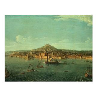 Eine Ansicht von Neapel, 17. Jahrhundert Postkarte