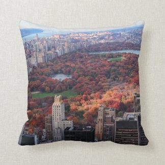 Eine Ansicht von oben: Herbst in Central Park 01 Kissen