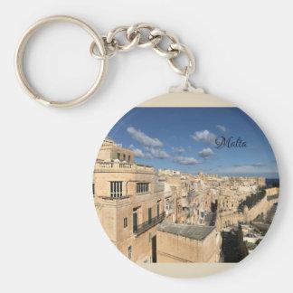 Eine Ansicht von Valletta, Malta durch Sun, Mond Schlüsselanhänger