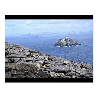 Eine Ansicht von wenigem Skellig von Skellig Postkarte