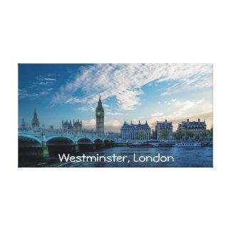 Eine Ansicht von Westminster, London Leinwanddruck