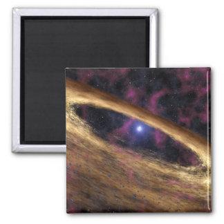 Eine Art toter Stern nannte einen Pulsar Quadratischer Magnet
