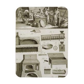 Eine Bäckerei und eine Backenausrüstung, vom 'Ency Flexible Magnete