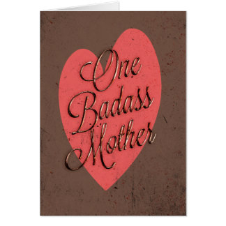 Eine Badass Mutter Karte
