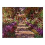 Eine Bahn in Monets Garden, Giverny, 1902 Postkarten