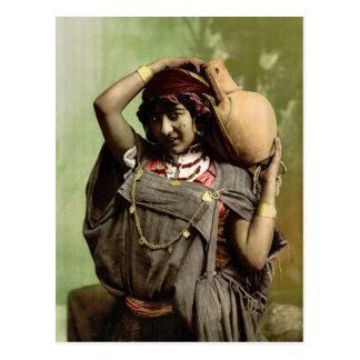 Eine beduinische Frau, Tunis, Tunesien Vintages Postkarte
