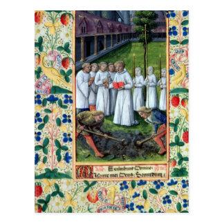 Eine Beerdigung Postkarten