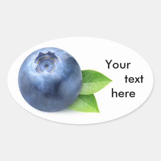 Eine Blaubeere Ovaler Aufkleber