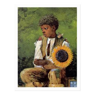 Eine Blume für den Lehrer durch Winslow Homer Postkarte