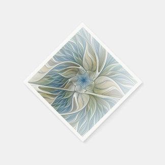 Eine Blumentraummuster-abstrakte Fraktal-Kunst Papierservietten