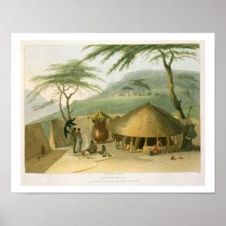 Eine Boosh-Wannah Hütte, überziehen 7 'von der afr Poster