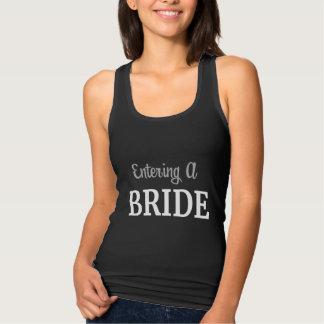 Eine Braut/das Verlassen eines Ehefrau-Behälters Tank Top