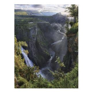 Eine breite Abendsansicht - Hordaland, Norwegen Postkarte