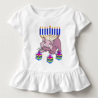 Eine Chanukka-Miezekatze Kleinkind T-shirt