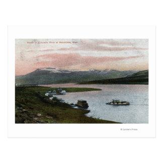 Eine Columbia River Riverboat-Szene Postkarte