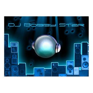 Eine coole Laser-Geschäftskarte DJ blaue mit Logo Visitenkarten Vorlagen