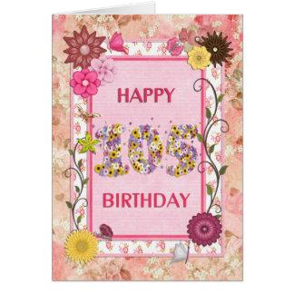 Eine craftlook 105. Geburtstagskarte Karte