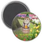 Eine deutsche Katze Runder Magnet 7,6 Cm