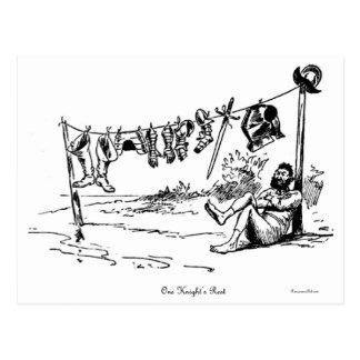 Eine die Erholungs-Vintage Karikatur-Postkarte des Postkarte