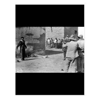 Eine dreifache Durchführung bei Juarez, Mexico_War Postkarte