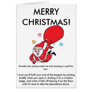 Eine ehrliche Weihnachtskarte Karte