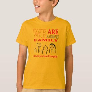 eine einfache Familie - Kinder T-Shirt