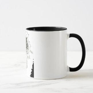eine einzigartige black&white Grafik-Tasse Tasse