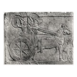 Eine Entlastung, welche die Assyrian Armee im Postkarte