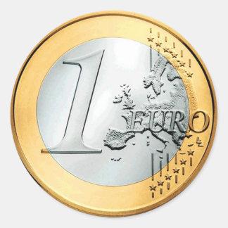 Eine Euromünze (Satz von 6/20) Runder Aufkleber