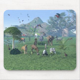Eine exotische Szene Mousepad des wilden Tieres