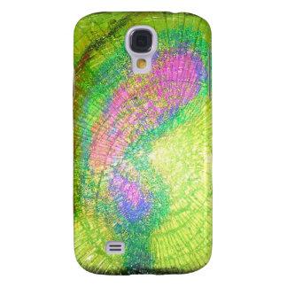eine Explosion des Farbglases Galaxy S4 Hülle