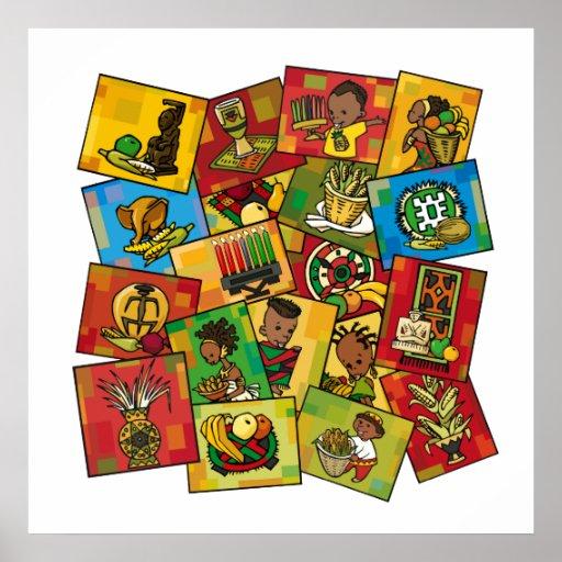 Eine Feier von Kwanzaa Poster