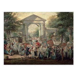 Eine Fiesta in einem botanischen Garten, 1775 Postkarte