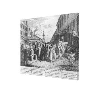 Eine Flotten-Hochzeit, 1747 Gespannter Galeriedruck