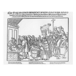 Eine Frage zu einem Mintmaker, c.1500 Postkarte