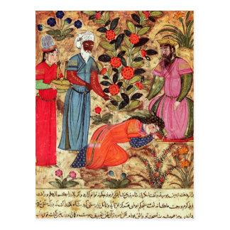 Eine Frau, die den Sultan bittet Postkarte
