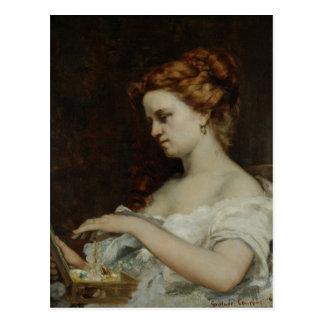 Eine Frau mit Schmuck, 1867 Postkarte