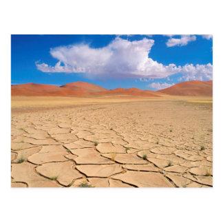 Eine gebrochene Wüstenebene Postkarte
