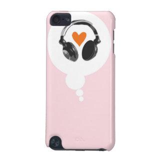 Eine Gedankenblase mit einem Herzen und Kopfhörern iPod Touch 5G Hülle