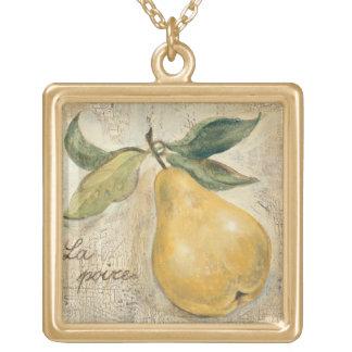 Eine gelbe Birne Vergoldete Kette