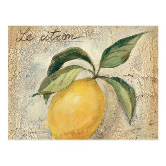 Eine gelbe Zitronen-Frucht Postkarte