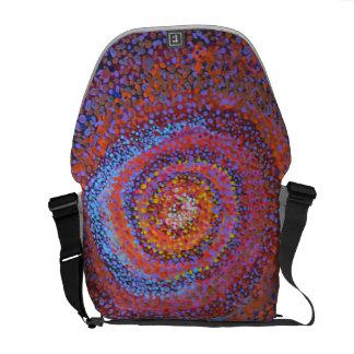 Eine gewundene Turbulenz - abstrakte Tasche Kurier Tasche
