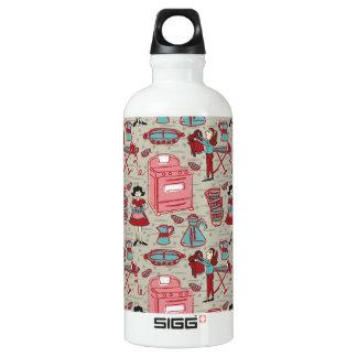 Eine glückliche Haushalts-Wasser-Flasche Aluminiumwasserflasche