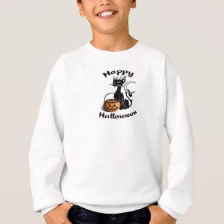 Eine glückliche schwarze Katze Sweatshirt