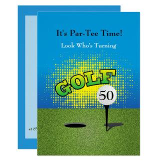 Eine Golfspieler-Geburtstags-Party Einladung