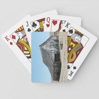 Eine große alte Scheune Spielkarten