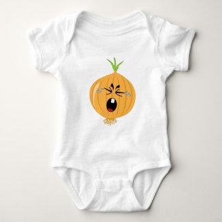 Eine große schreiende Zwiebel Baby Strampler